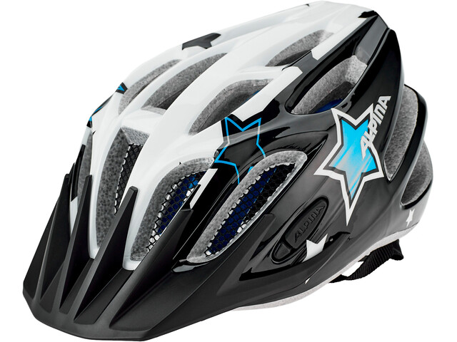 Alpina FB 2.0 Flash Cykelhjelm Unge, black-white-blue